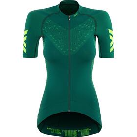 X-Bionic Twyce G2 Fahrrad Zip Trikot SS Damen pine green/amazonas green